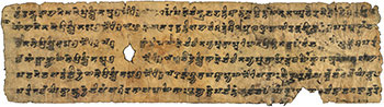 Part of an ancient Lotus Sutra manuscript [© International Dunhuang Project / Wikimedia Commons]
