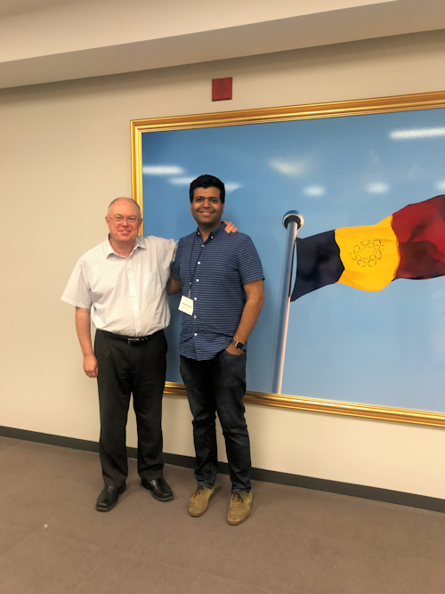 Sudhanshu with SGI Canada General Director Tony Meers at the Caledon Educator Conference, August 4, 2018