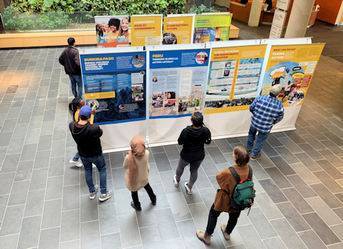 """Transforming Lives: The Power of Human Rights Education"" exhibition displayed at The University of Guelph-Humber"