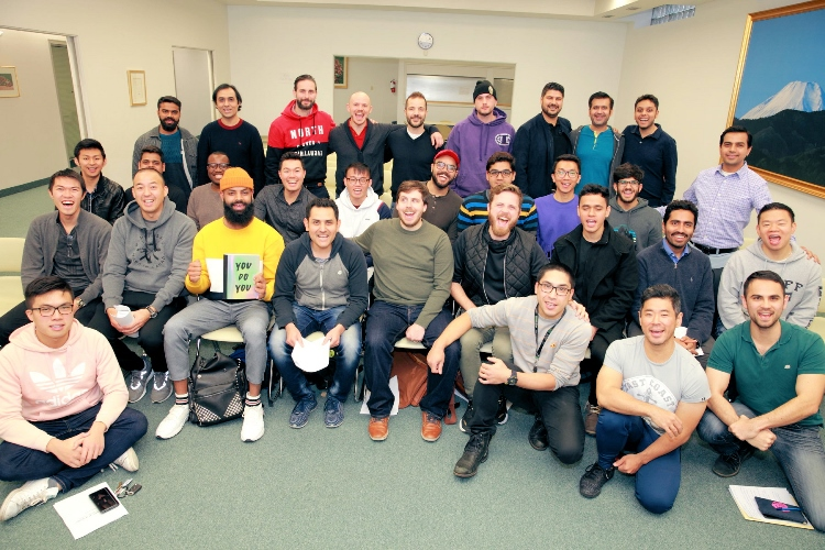 Participants at the young men's conference in Toronto