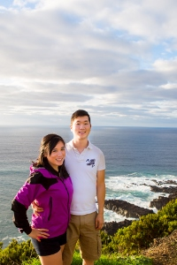 """When we study Nichiren Buddhism, we learn that we have unlimited potential and we can achieve anything."" Above: Samantha with her fiancé, Elliot, in Azores, Portugal, September 2014"