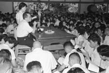 Lecturing on the writings of Nichiren, 1954