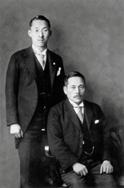 Makiguchi (right) and Toda (left), 1930